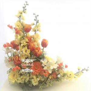CHARIS 春のアレンジ アーティフィシャルフラワー 高級造花